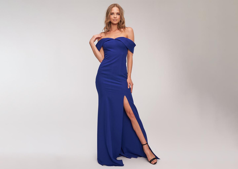 Straplez Yaz Düğünü Elbisesi Mavi Model ve Şık