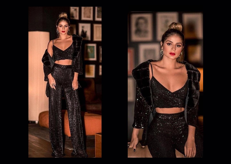 Alt-Üst Takım Siyah Yaz Düğünü Elbisesi Modeli