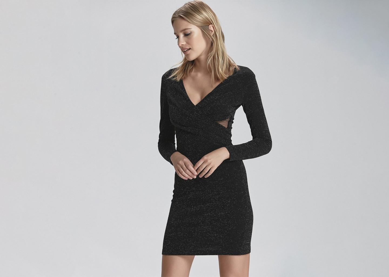 Siyah Uzun Kollu Yaz Düğünü Elbisesi